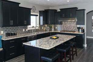 black cupboards kitchen ideas beautiful black kitchen cabinets design ideas designing idea