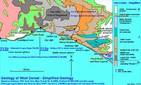 Bridport West Cliff To Eype Mouth Geology By Ian West
