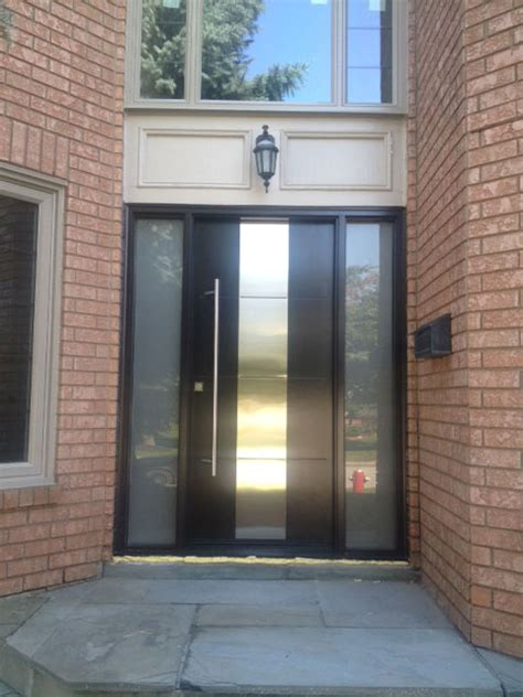 modern contemporary front entry single door