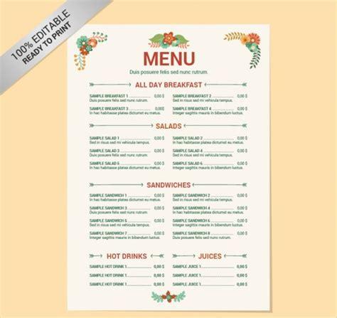 cuisine menu list 41 vintage menu designs free premium templates