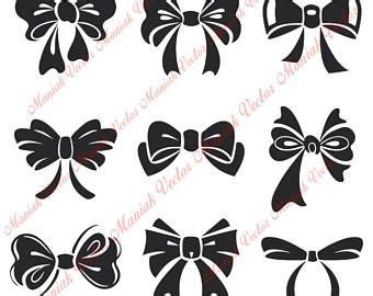 instant  bows svg bows silhouette files bows