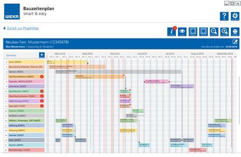 bauzeitenplan smart easy software zur bauablaufplanung