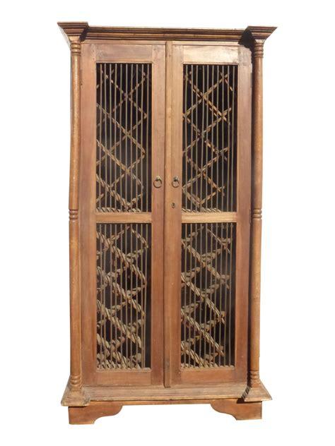 Wine Cupboards by Teak Wood Rustic Style Wine Rack Cabinet In 2019