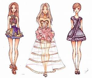 Fashion Design Sketches Of Dresses Black And White 2015 ...