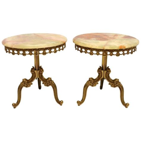 antique brass table ls pair of antique french brass and onyx tables at 1stdibs