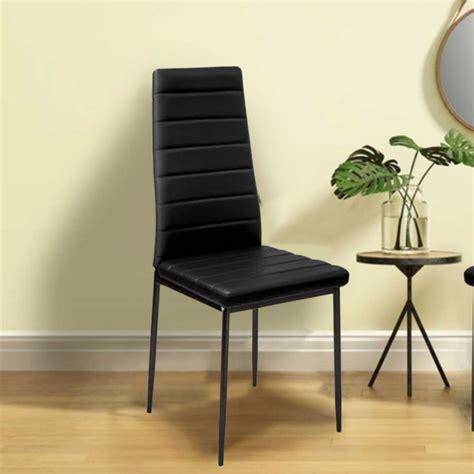 lot 6 chaises noires lot de 6 chaises romane noires pour salle à manger meubles