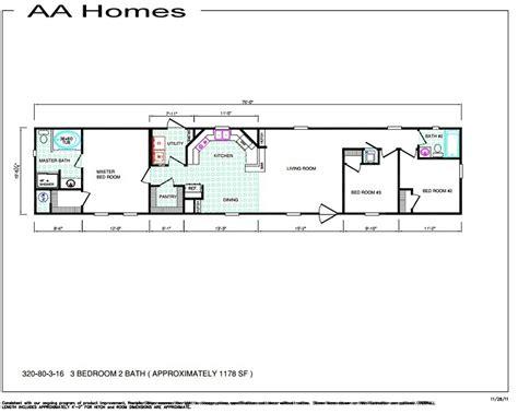 3 Bedroom Wide Floor Plans by Single Bedroom Floor Plans Wide Small Mobile Home