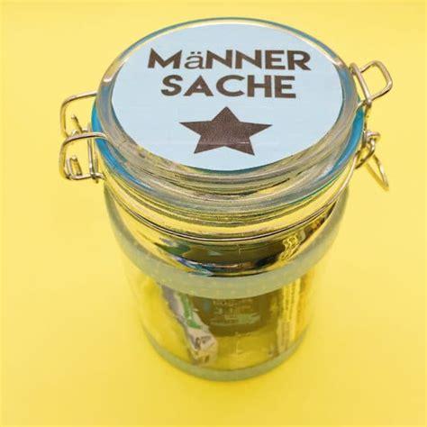 geschenk mann basteln m 228 nnersache diy geschenk im glas f 252 r m 228 nner selber machen handmade kultur