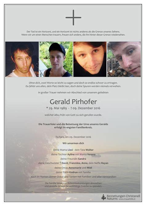 trauerhilfeit das suedtiroler gedenkportal verstorbene