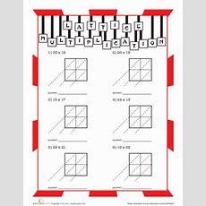 Lattice Multiplication  Worksheet Educationcom