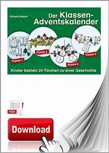 Adventskalender Grundschule Ideen : pdf der klassen adventskalender kinder basteln 24 t rchen zu einer geschichte ~ Somuchworld.com Haus und Dekorationen