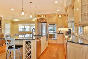 Natural, Stained, Wood, Kitchen, Toms, River, New, Jersey, By, Design, Line, Kitchens