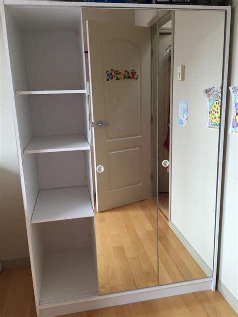 Ikea Molger Sliding Bathroom Mirror Cabinet by Ikea 3 Mirror Sliding Door Wardrobe Closet Cabinet Storage