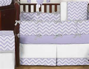 purple chevron crib bedding discount purple white gray modern zigzag baby room