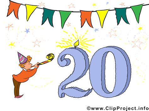 Glückwünsche 20 Geburtstag Clipart, Bild, Karte