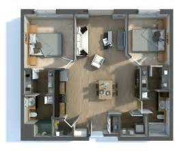 2 bedroom open floor plans 2 bedroom apartment house plans
