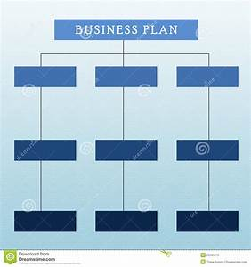 Business Plan Diagram Stock Photography