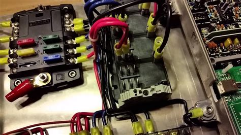 race car electrical panel overview