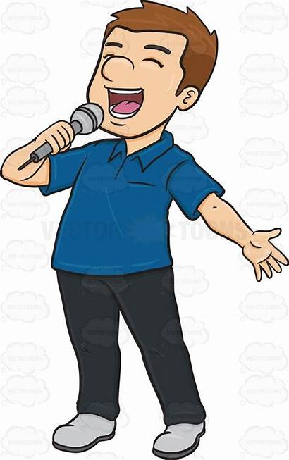 Singing Clipart Sing Microphone Boy Singer Clip