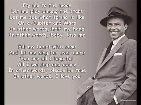 To Me Testo fly me to the moon frank sinatra lyrics