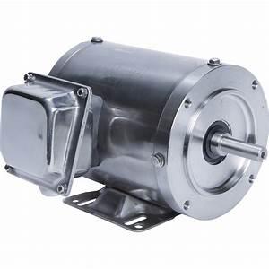 Leeson Washguard Stainless Steel Electric Motor  U2014 1  2 Hp