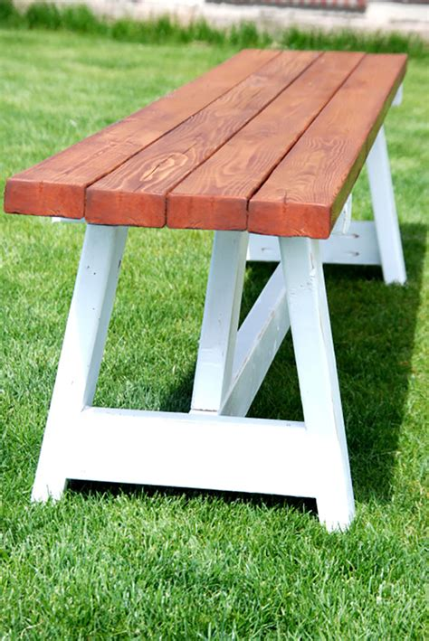 Diy Project Farmhouse Bench  The Home Depot