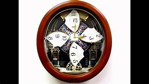 Qxm478brh seiko melodies in motion pendulum wall clock for Seiko wall clocks in motion
