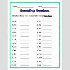 Rounding And Estimation Worksheets * To The Nearest 10  Rounding, Geek Culture And Chang'e 3