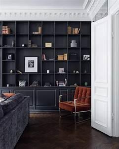 Bibliothèque Noire Ikea : am nager une biblioth que murale dans son salon quelle couleur choisir ~ Teatrodelosmanantiales.com Idées de Décoration