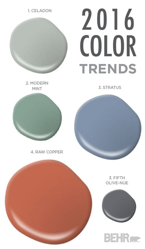 this color palette from the 2016 color trends is rustic