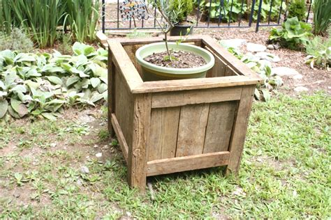 wooden planter boxes salvaged wood planter let s the