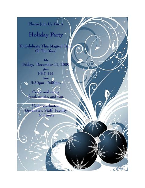 holiday party invitation template free gangcraft net