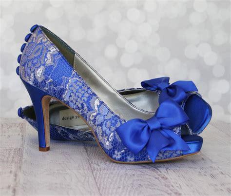 blue wedding shoes wedding shoes royal blue platform peep toe custom wedding 1961