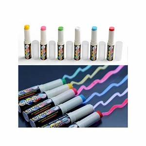 6pcs Highlighter Washable Neon Solid Chalk Marker Pen for