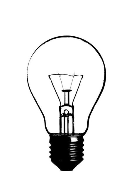 coloring page light bulb color page light bulb