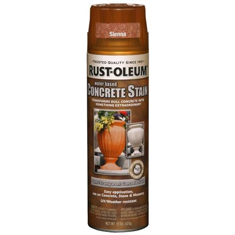 rust colored spray paint rust oleum concrete stain 15 oz water based spray