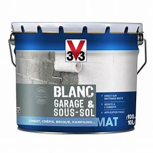 peinture blanche mur et plafond garage et sous sol v33 With peinture epaisse pour plafond
