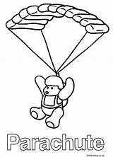 Parachute Coloring Pages Template Popular Sheet Sketch Sheets 725px 64kb sketch template