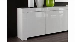 Sideboard 30 Cm Tief : sideboard amalfi wei echt hochglanz lackiert 210 cm breit ~ Bigdaddyawards.com Haus und Dekorationen