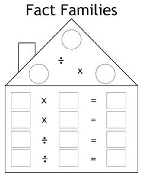 free fact family worksheet multiplication and