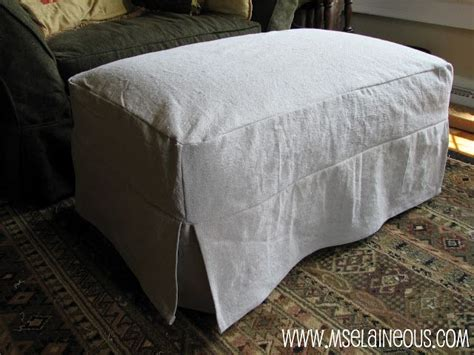And Ottoman Covers by Best 25 Ottoman Slipcover Ideas On Slipcovers