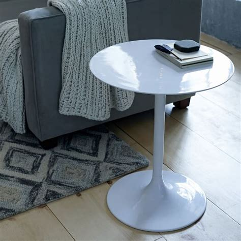 west elm side table modernist pedestal side table west elm