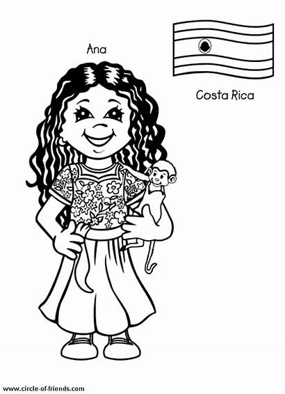 Coloring Costa Rica Pages Around Printable Children