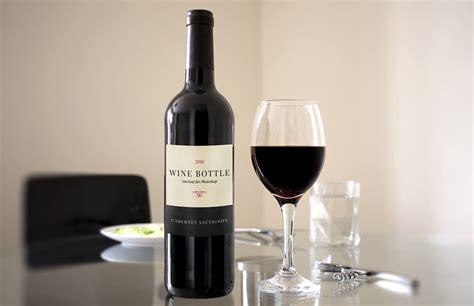 wine bottle red wine bottle scene mockup medialoot