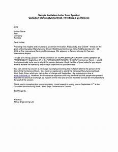 sample formal invitation letter for a guest speaker With wedding invitation letter sample pdf