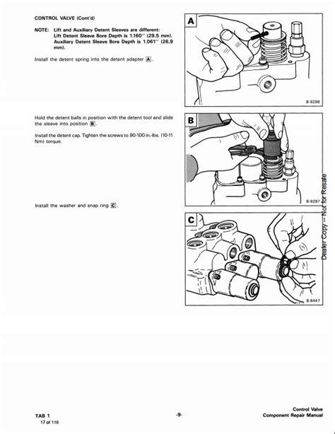 bobcat melroe hydraulic control valve service repair workshop manual  repair manual store