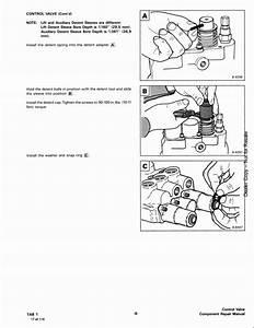 Bobcat Melroe Hydraulic Control Valve Service Repair