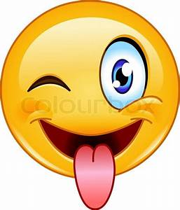 Emoticon with stuck out tongue and winking eye | Stock ...