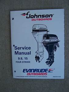 1995 Johnson Evinrude Outboard Motor 9 9 15 Hp Four Stroke
