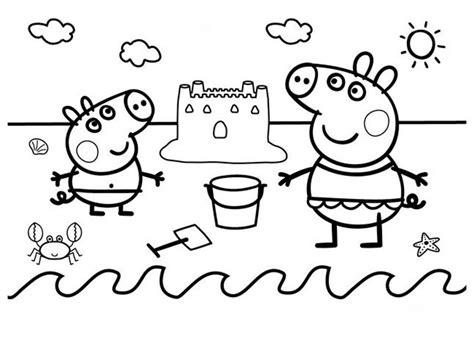 peppa pig dibujos  colorear gratis